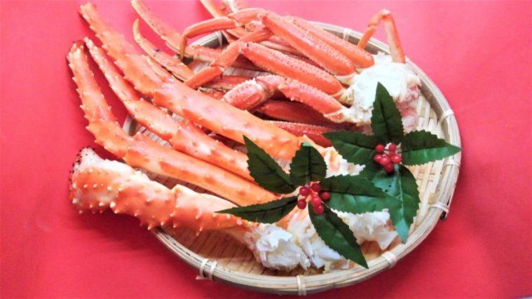盛られた蟹